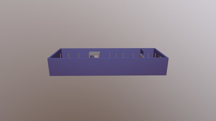 Simple Warehouse Layout 2018 3D Model