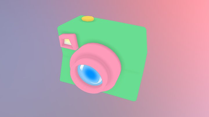 Low-poly Cute Camera 3D Model