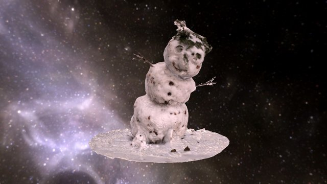 loring snowman in space [capped] 3D Model