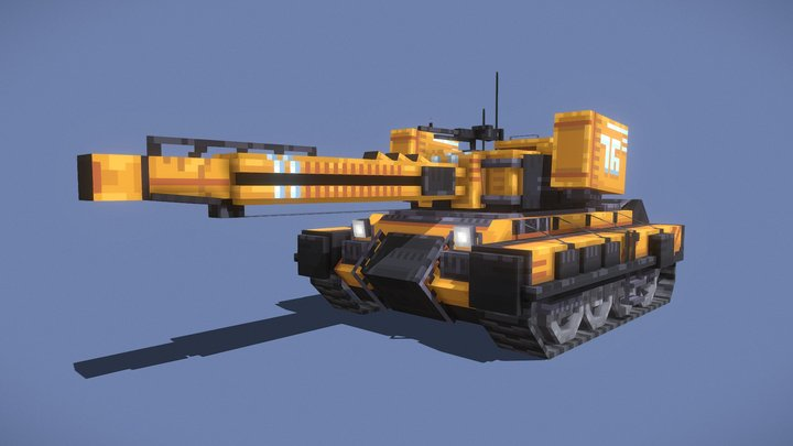 Cyberpunk tank 3D Model