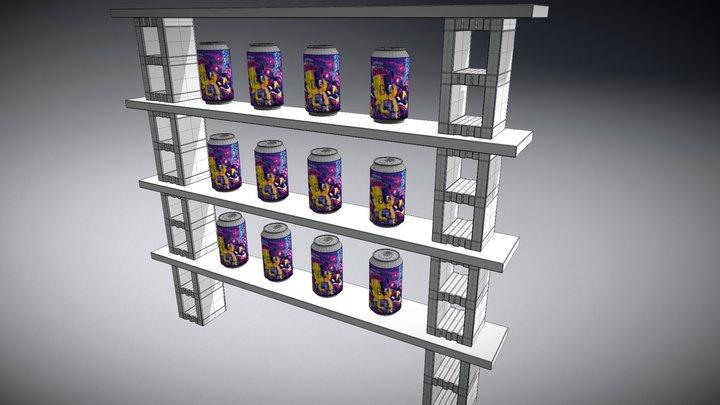 Virtual Beer Store 3D Model
