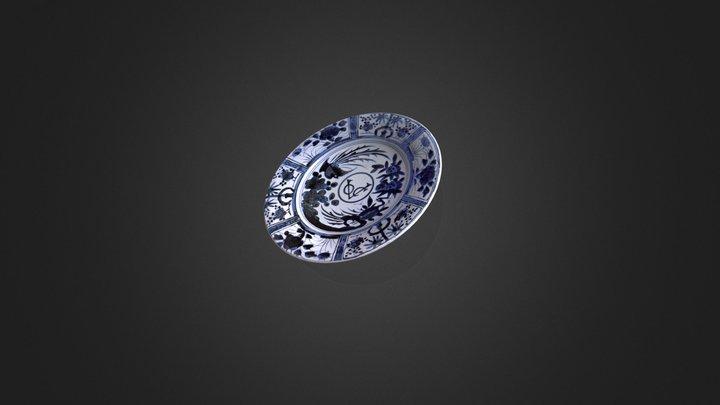 VOC Porseleinen bord 3D Model