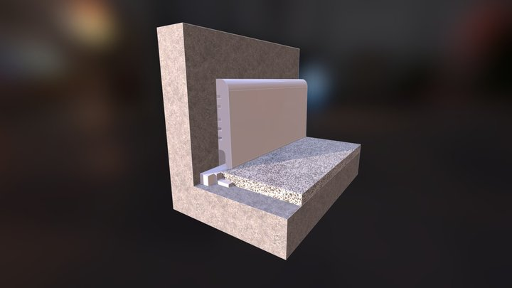 TERAZZO ŻYWICZNE MONDÉCO ŁĄCZENIE Z COKOŁEM PRZY 3D Model