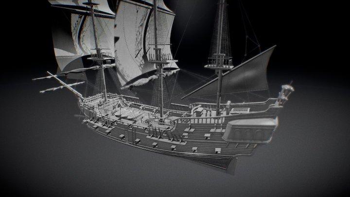 Asset the black pearl 3D Model