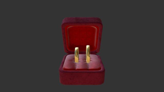 Golden Rings 3D Model