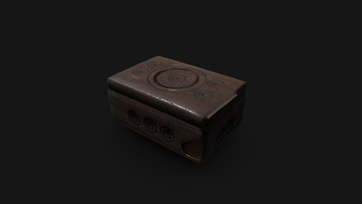 Wooden Jewelery box scan | Game Ready asset 3D Model
