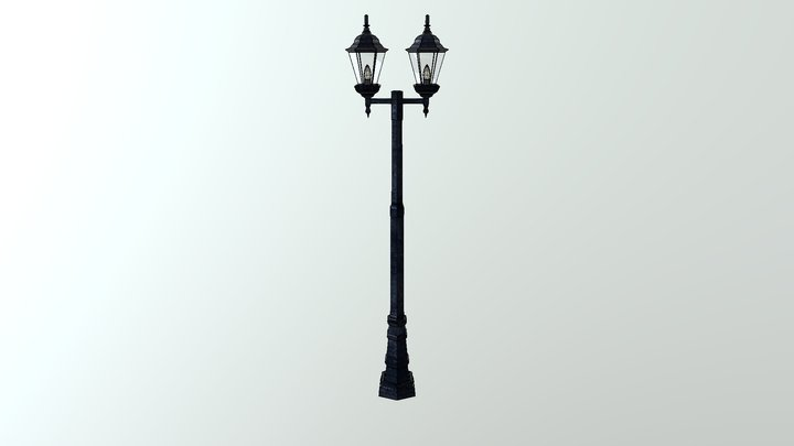 Low Poly Light Pole 3D Model