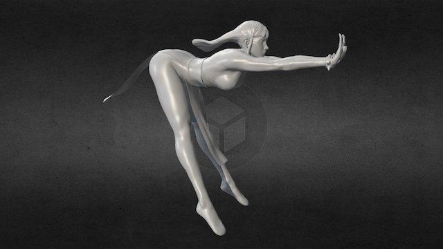 Chun-li Kikoken 3D Model