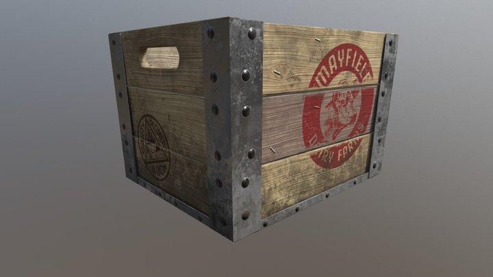 old milk crate 3D Model