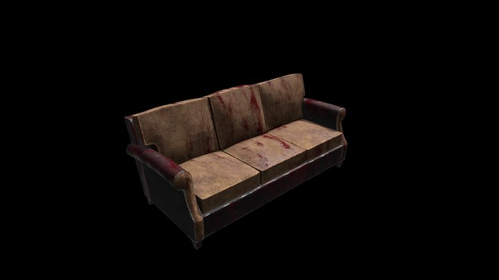 Bloody Horror Sofa 3D Model