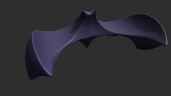 BAT LOGO 2 3D Model