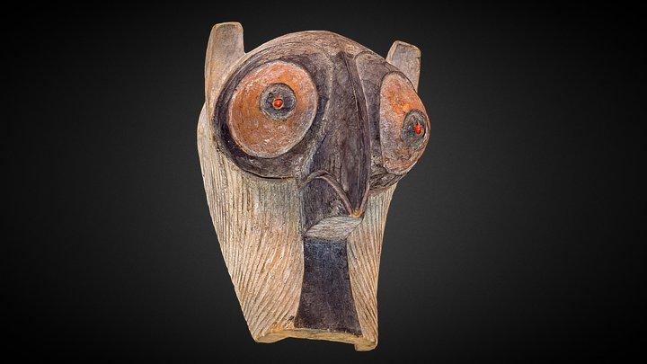 Kifwebe society mask - Songye people, Zaire 3D Model