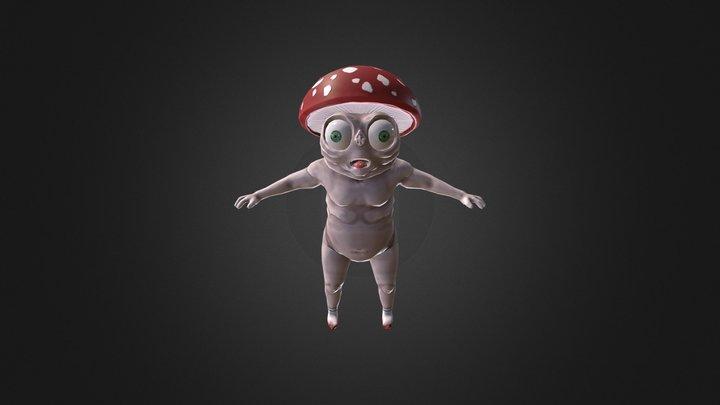 Exploding Mushroom Character - Junior Collab LP 3D Model