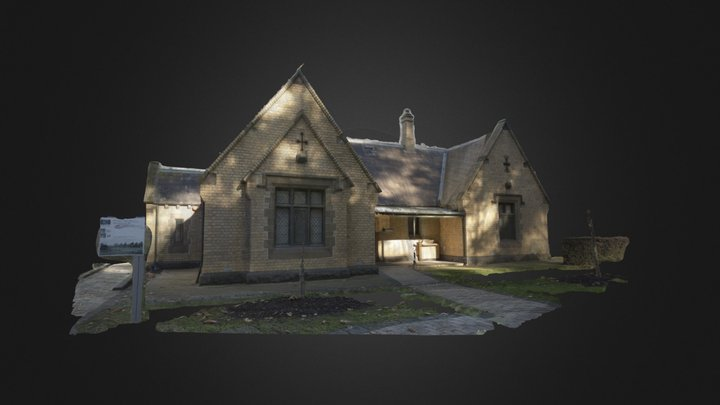 Melbourne University gate house 3D Model