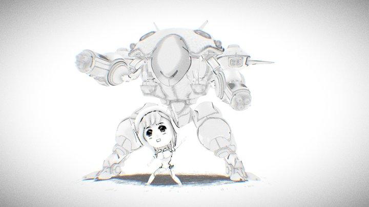 Sketch D.Va 3D Model