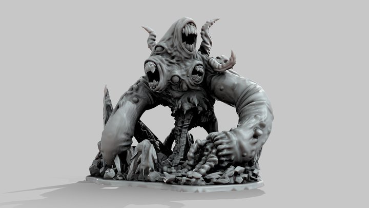 The Army Of Hell - Lovecraftian Horror 3D Model