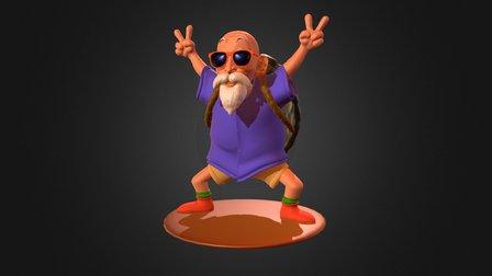 Master Kame/Roshi 3D Model