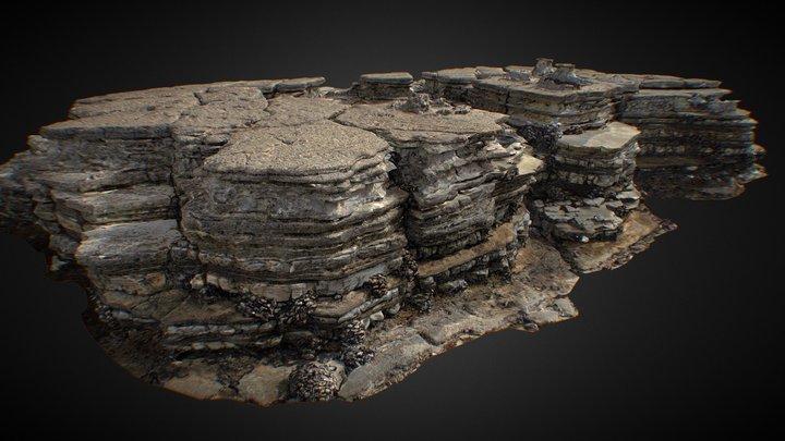 tide pools rock 02 lit 3D Model