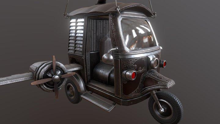 Auto Rickshaw Balloon 3D Model