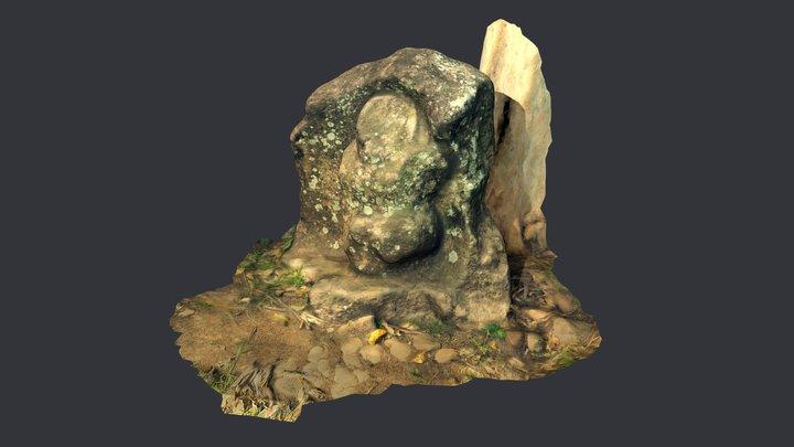 La Catarina, an ancient sculpture from Guatemala 3D Model