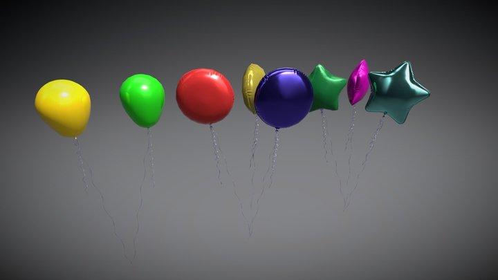 Helium balloon 3D Model