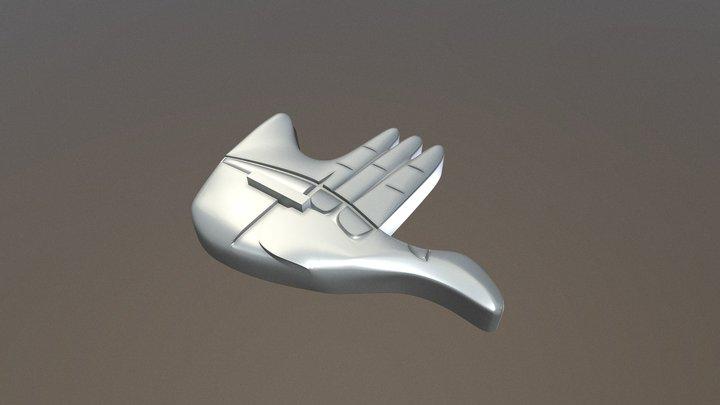 Open Hand Monument 3D Model