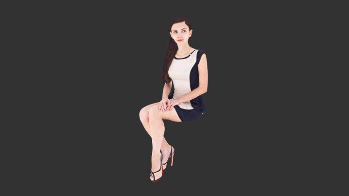 Woman Sitting 3D Model