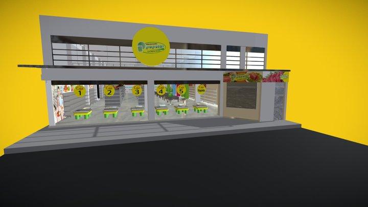 Supermercados Populares 3D Model