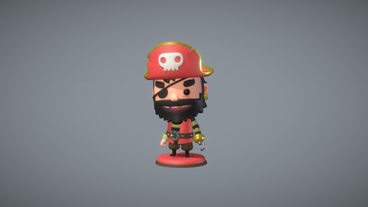 Pirate Kings Pose 3D Model