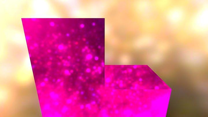 Pink puzzle cube piece 3D Model