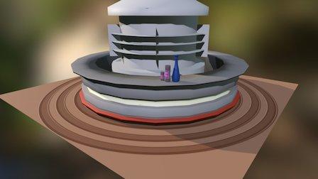 Rough Design of a bar from Mass Effect 3D Model