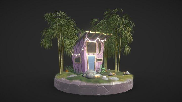 Tiny Purple Cabin 3D Model