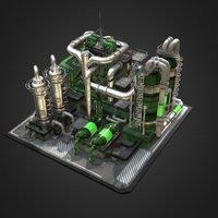 Chemical Factory 3D Model