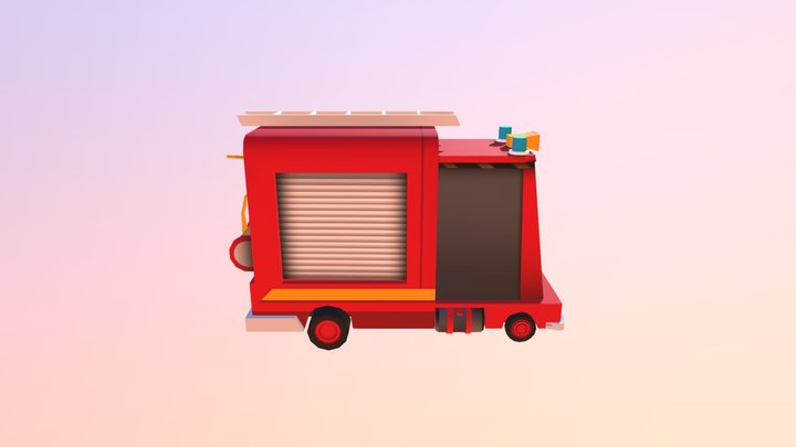 Fire Fighter Bus 3D Model