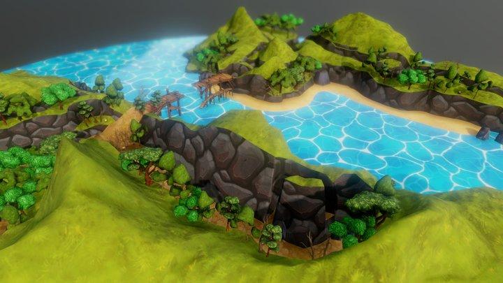 River Band Environment Design 3D Model