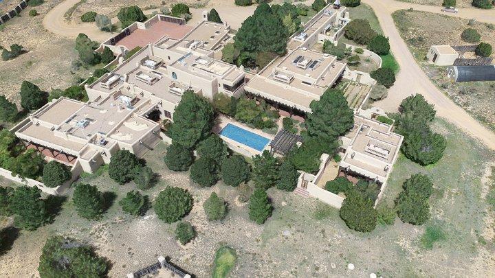 Randy Travis Santa Fe Estate via Drone Mapping 3D Model