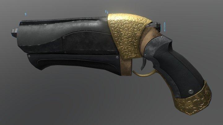 Scifi Pistol 3D Model