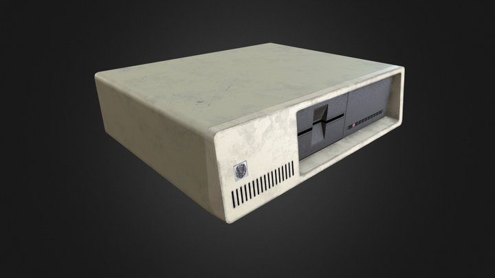 80's Personal Computer System Unit 3D Model
