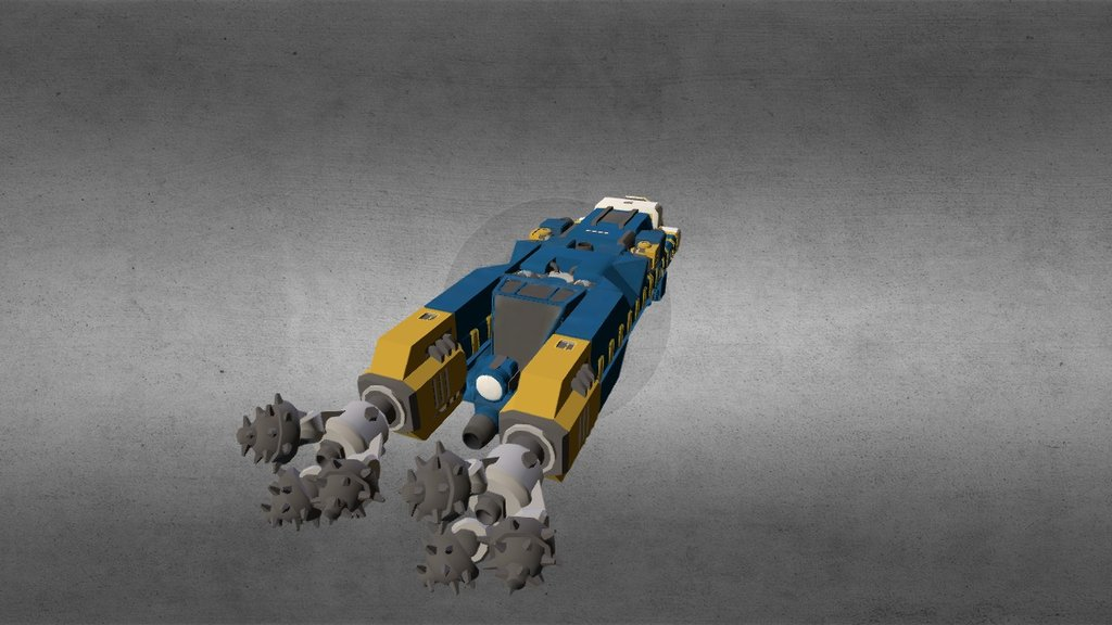 Miner Space Ship From Space Engineers Game 3d Model By Space Engineers Prints Spaceengineersprints D2811de Sketchfab
