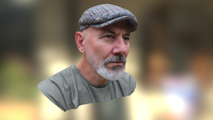 My bald father bust 3D Model
