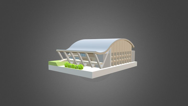 NTU Sports Hall Miniature 3D Model