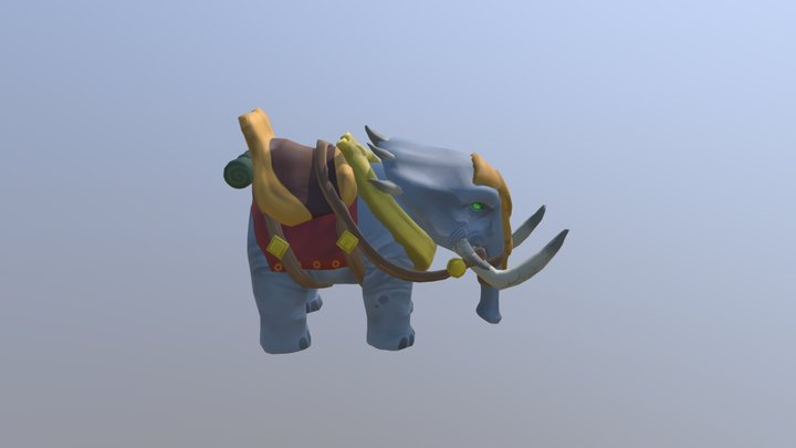 Stylized Circus Elekk for Folder 3D Model