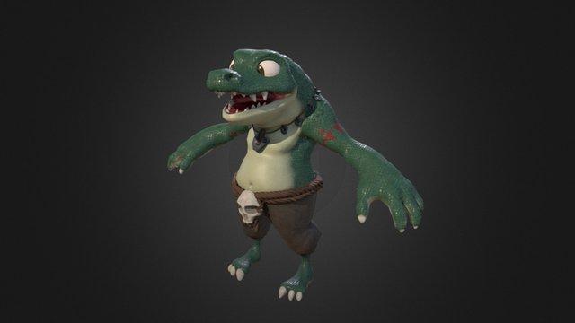 Croc Dude 3D Model