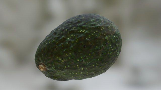 Organic Hass Avocado 3D Model