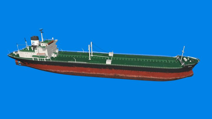 Le tanker Erika - Marée noire - France 1999 3D Model