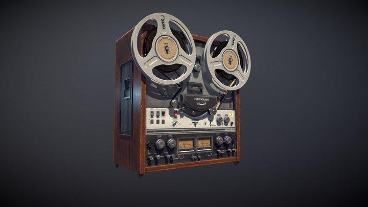 Vintage Tape Machine 3D Model