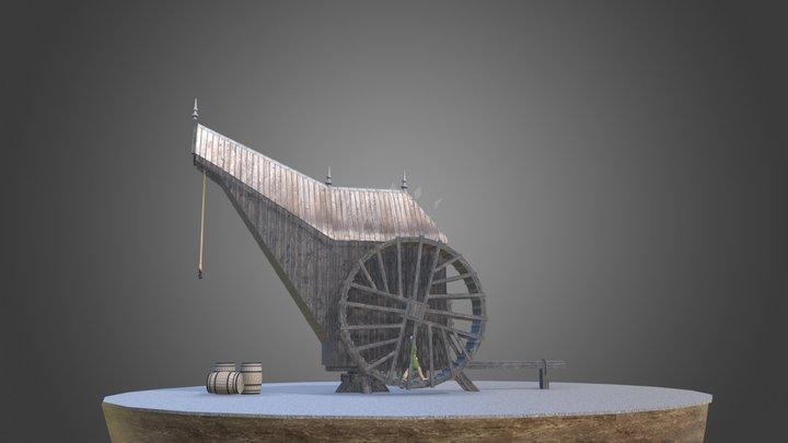 Stadskraan 16e eeuw 3D Model