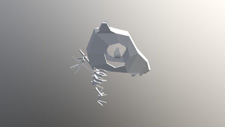 Mono Huesos 3D Model