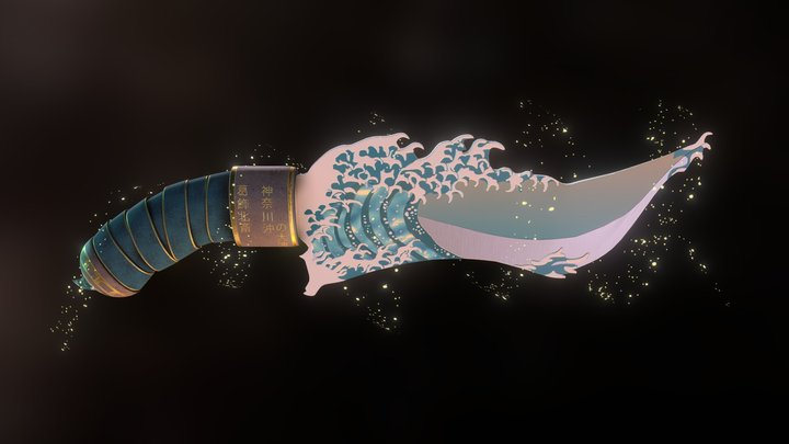 Great Wave Dagger 3D Model