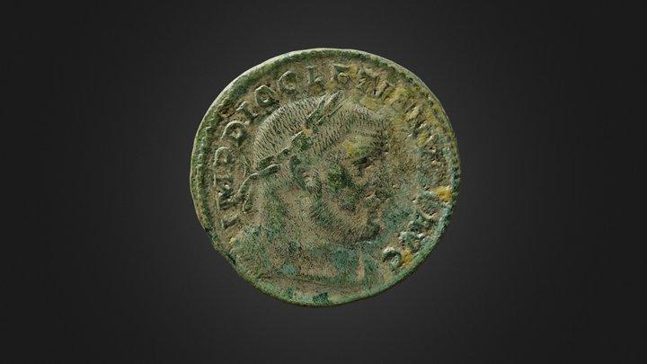 Monnaie romaine - version mobile 3D Model